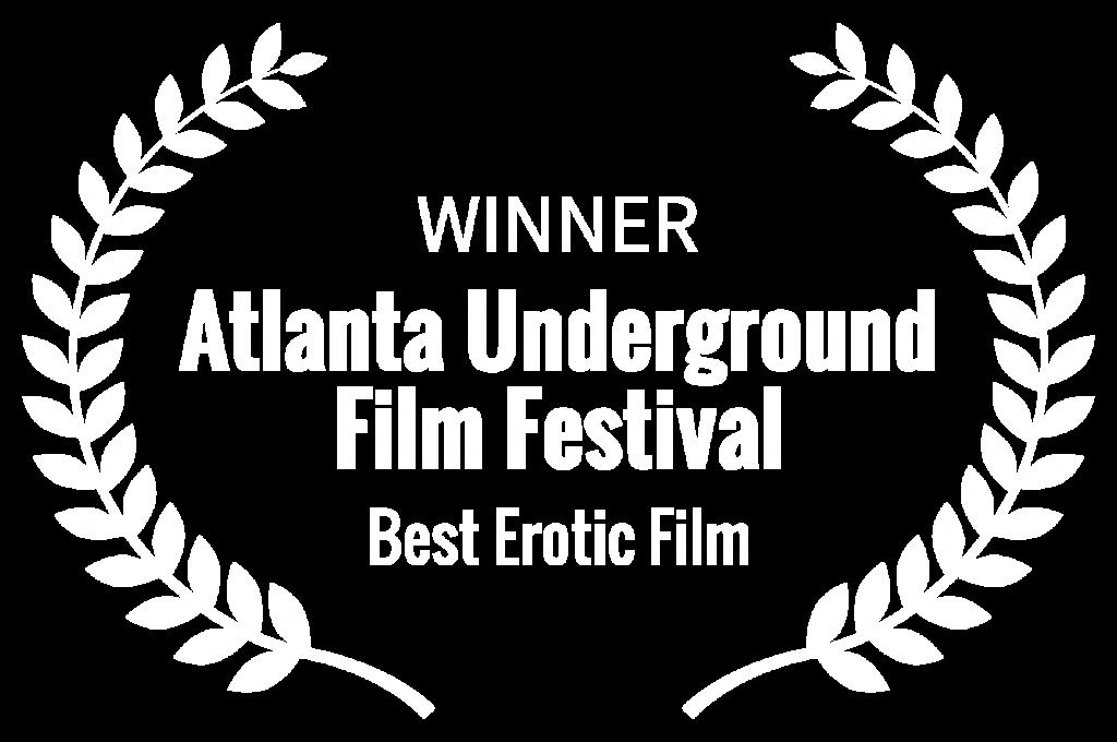 Best Erotic Film laurel awarded by the Atlanta Underground Film Festival to the winning erotic film Headshot, directed by Jennifer Lyon Bell for Blue Artichoke Films