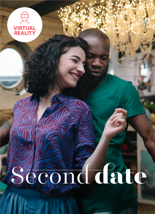Poster from the erotic VR 360 virtual reality film Second Date directed by Jennifer Lyon Bell of Blue Artichoke Films