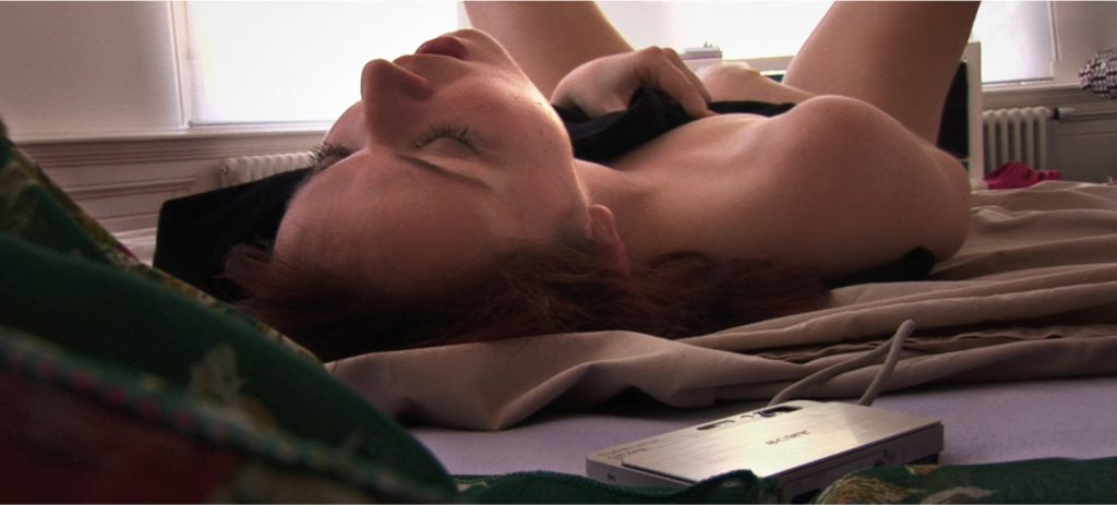 AnnaBelle Lee secretly masturbates in Silver Shoes (The Housesitter), an erotic trilogy directed by Jennifer Lyon Bell for Blue Artichoke Films